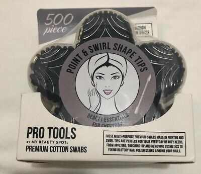 Pro Tools By My Beauty Spot, Premium Cotton Swabs 500 Pieces NIB