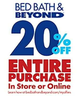 Bed Bath & Beyond DISCOUNT 20% OFF ENTIRE PURCHASE Works on Sale - IN STORE ONLY