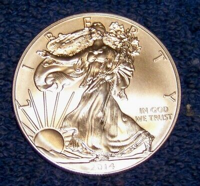 (1)  2014 1 oz Silver American Eagle - No Spots or Marks Beautiful Coins