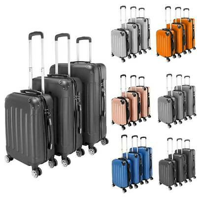 3PC 3-in-1 Travel Luggage Set Bag Trolley Spinner Business Hard Shell Suitcase