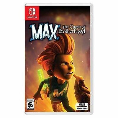 Max The Curse Of Brotherhood For Nintendo Switch Game Only 9E