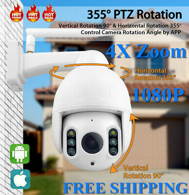 1080P 4X Zoom WIFI IP Camera Outdoor CCTV HD PTZ Smart Home Security IR Cam