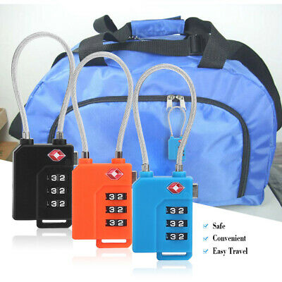1x Luggage Password Lock 3-digit Combination Password for Travel Bag Door Locker