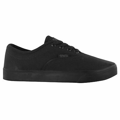 SoulCal Sunset Canvas Shoes Juniors Girls Trainers Casual Black Footwear