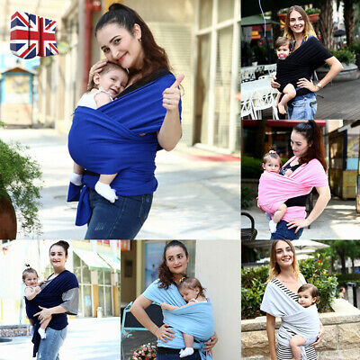 Baby Sling Stretchy Wrap Carrier Breastfeeding Birth To 3Yrs Many Colours Uk