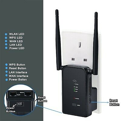 Aigital WiFi Router Long Range Extender 300M Wi-Fi Signal Booster Wireless Easy