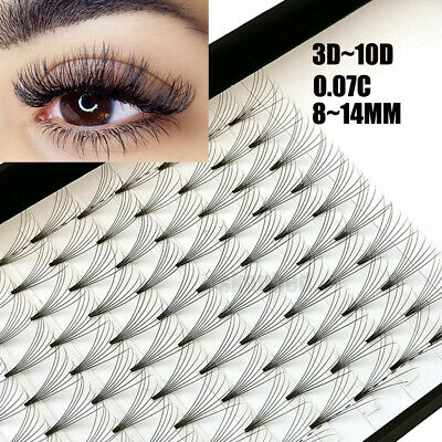12 Lines 3D~10D Russian Premade Volume Fans Eyelashes C Curl 0.07 Lashes CY