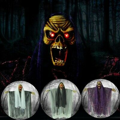 Halloween Life Size Psychic Witch Haunted House Decorations Props Tricky Hanging