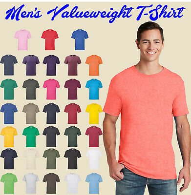 Fruit of the Loom Men's Valueweight T-Shirt Plain Cotton Casual Crew Neck 61036