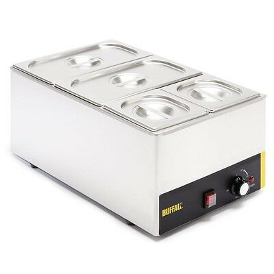 Buffalo Bain Marie without Tap (with Pans)  2 x 1/3 & 2 x 1/6 Pans S007 Catering