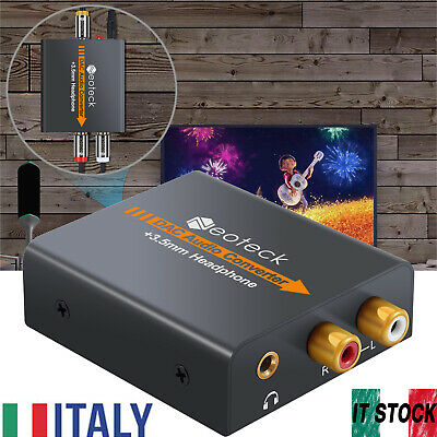 DAC Convertitore Audio Digitale ad Analogico Coassiale Ottico RCA L/R 3.5mm Jack