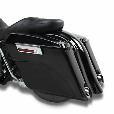 Black Extended Stretched Panniers Harley-Davidson Touring Models 00-13