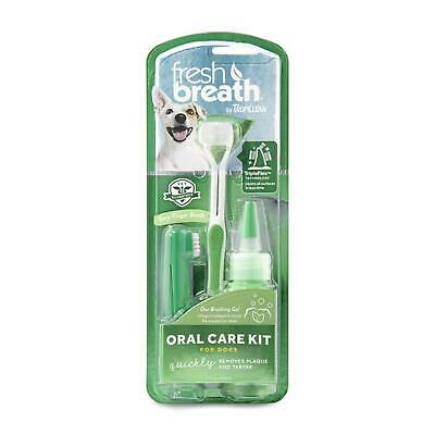 TropiClean Oral Care Kit Plaque Remover Clean Teeth Toothbrush Gel Paste for Dog