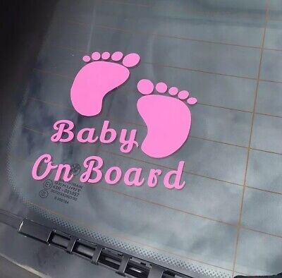 Baby On Board Funny Car Child Children Window Bumper Sticker Vinyl Decal Signs