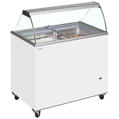 Tefcold Ic300Sc & Canopy Graded Small Shop Budget Scoop Ice Cream Freezer