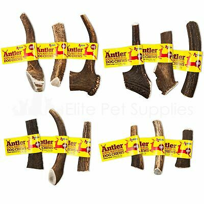 Antos Deer Antler Dog Chew Long Lasting Treat 100% Natural XS, S, M, L or XL
