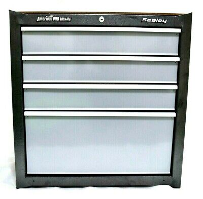 Sealey American Pro 4 Drawer Ball Bearing Mobile Cabinet Ap04Dfc