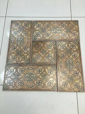Art Nouveau Style Tile with Gloss finish handcrafted in Two dimentions