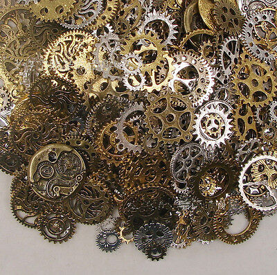 ds 50g Watch Parts STEAMPUNK CYBERPUNNK COGS GEARS DIY JEWELRY CRAFT@N