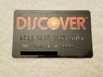 VINTAGE Exp 1992 Discover Credit Card Unsigned Sears Financial Network CC CLOSED