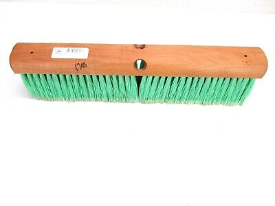 "Nos! Magnolia 18"" Floor Brush Green Flag Plastic 4"" Bristles #618"