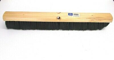 "Nos! Magnolia 24"" Floor Brush Black Tampico Fibers 3-1/4"" Bristles #1024"