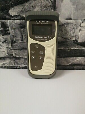 Eutech Ecoscan Con 6 handheld conductivity meter commercial used wokring rare