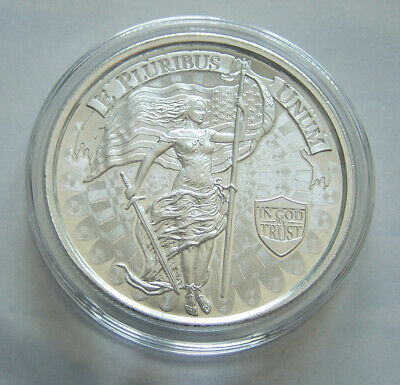 1oz Silver High Relief Round - Liberty and Unity - In Airtite Capsule