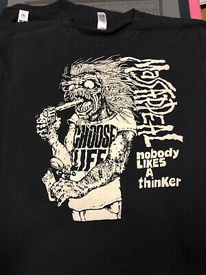 Massappeal- Nobody Likes A Thinker T Shirt HARD-ONS COSMIC PSYCHOS PUNK HARDCORE