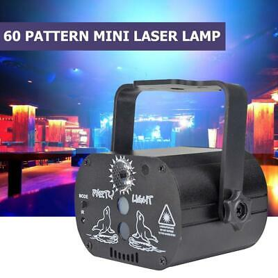 60Pattern Laser Projector Stage Lights Mini LED R&G Lighting Party Disco DJ Show