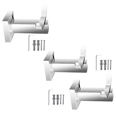 Double Towel Hook Hanger Stainless Steel Fashion Bathroom Twin Hook Holder