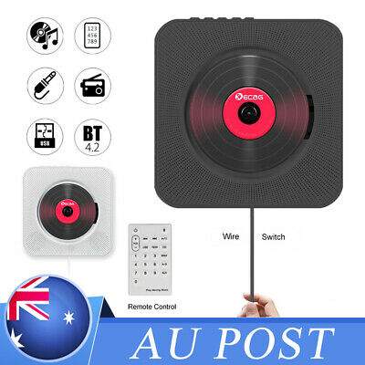 CD Bluetooth Player Wall Mounted FM Radio MP3 Music Remote Control Stereo AU Hot