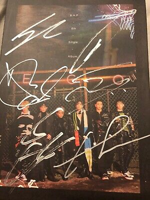 B.A.P  all member signed album kpop mwave ego 8th mini zelo yongguk youngjae