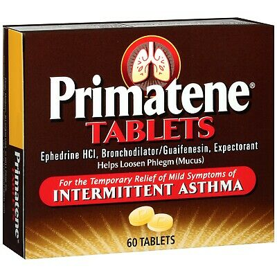 Primatene Bronchial Asthma Expectorant Relief 60 Tablets 100% Genuine Exp 04/21