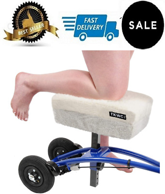 """Knee Scooter Comfy Cushion 2"""" Thick Foam Knee Pad & Cover Fits Most Knee Walker"""