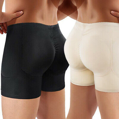 Men Hip Enhancer Briefs Padded Boxer Underwear Skinny Panties Shaper Butt Lifter