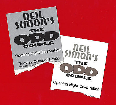 "Nathan Lane ""THE ODD COUPLE"" Matthew Broderick 2005 Opening Night Party Tickets"