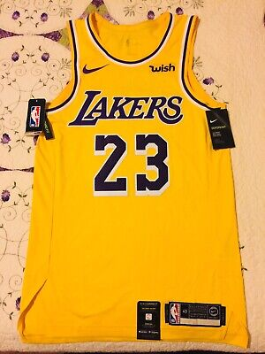 on sale 85800 5662b LEBRON JAMES AUTHENTIC Nike Lakers Icon Edition Jersey NWT ...