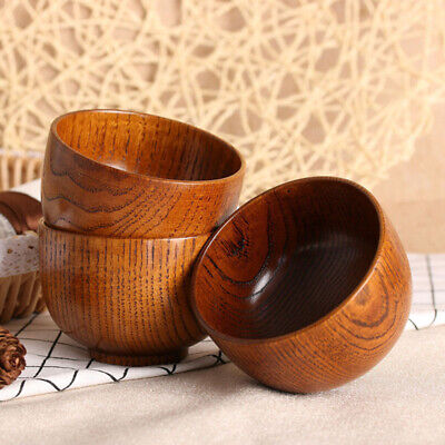 Wooden Bowl Creative Soup Rice Noodles Jujube wood Tableware Kitchen Dining Dish