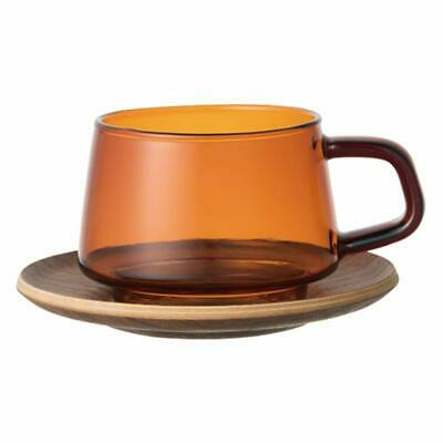 KINTO Cup & Saucer 270ml SEPIA 21742 Amber from JAPAN F/S
