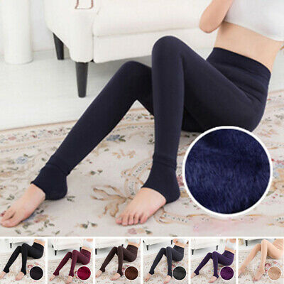 Women's Trousers Ladies Pants Winter Solid Leggings Trousers Pencil Thick
