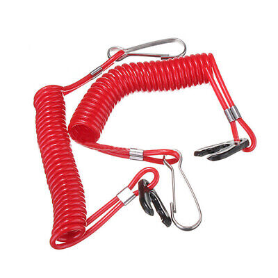 Outboard Engine Switch Lanyard Clip Key Red Waterproof 160cm Kill Stop