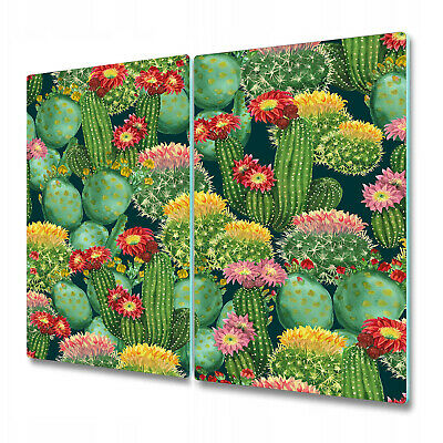 Glass Induction Ceramic Hob Cover Spring field flowers Colourful 60x52