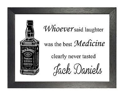 JACK DANIELS WHISKEY Label Large Poster Wall Art Print - A0 ...