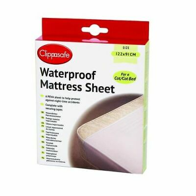 Waterproof Cot & Cotbed Mattress Protector PEVA Sheet Child Toddler Potty Train