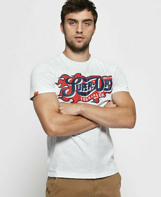 New Mens Superdry Heritage Classic T-Shirt Ice Marl