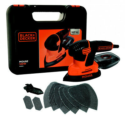 2 x Black & Decker Compact Mouse With Kit Box & 9 Accessories