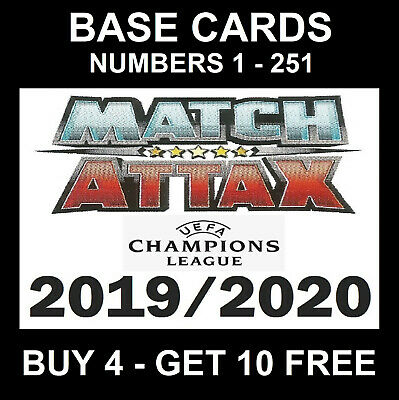 MATCH ATTAX 2019/20 cards BUY 4 GET 10 FREE Champions / Europa League 2019/ 2020