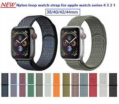 40/44mm Reflective Nylon loop watch band strap for apple watch iWatch series 4 3