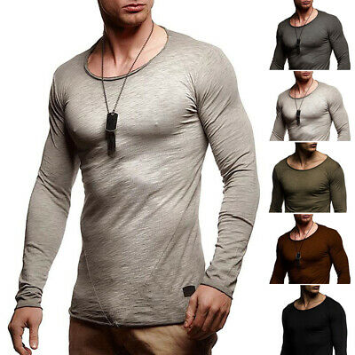 Stylish Mens Slim Fit O Neck Long Sleeve Muscle Tee T-shirt Basic Tops Blouse